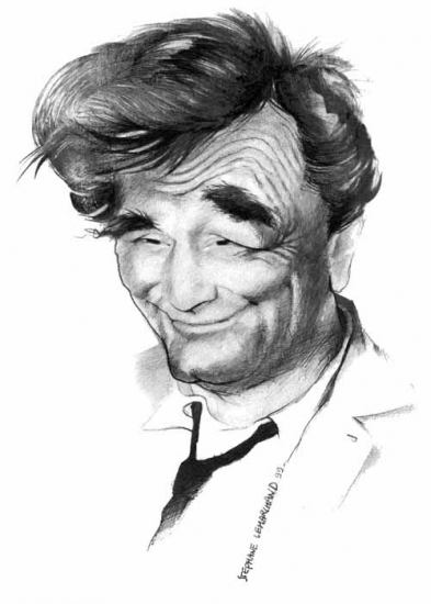Portrait of Peter Falk by caricature-online on Stars Portraits